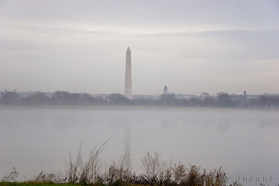 potomic, fog, washington monument